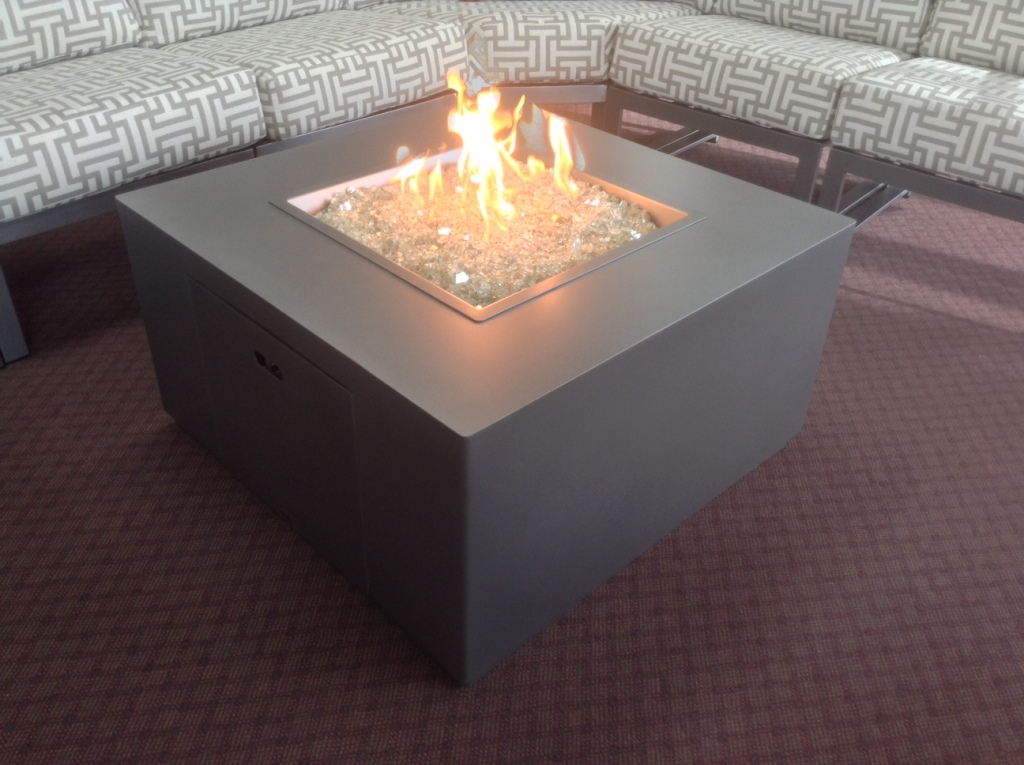 "Forma  Fire Table 35"" Square 19"" H"