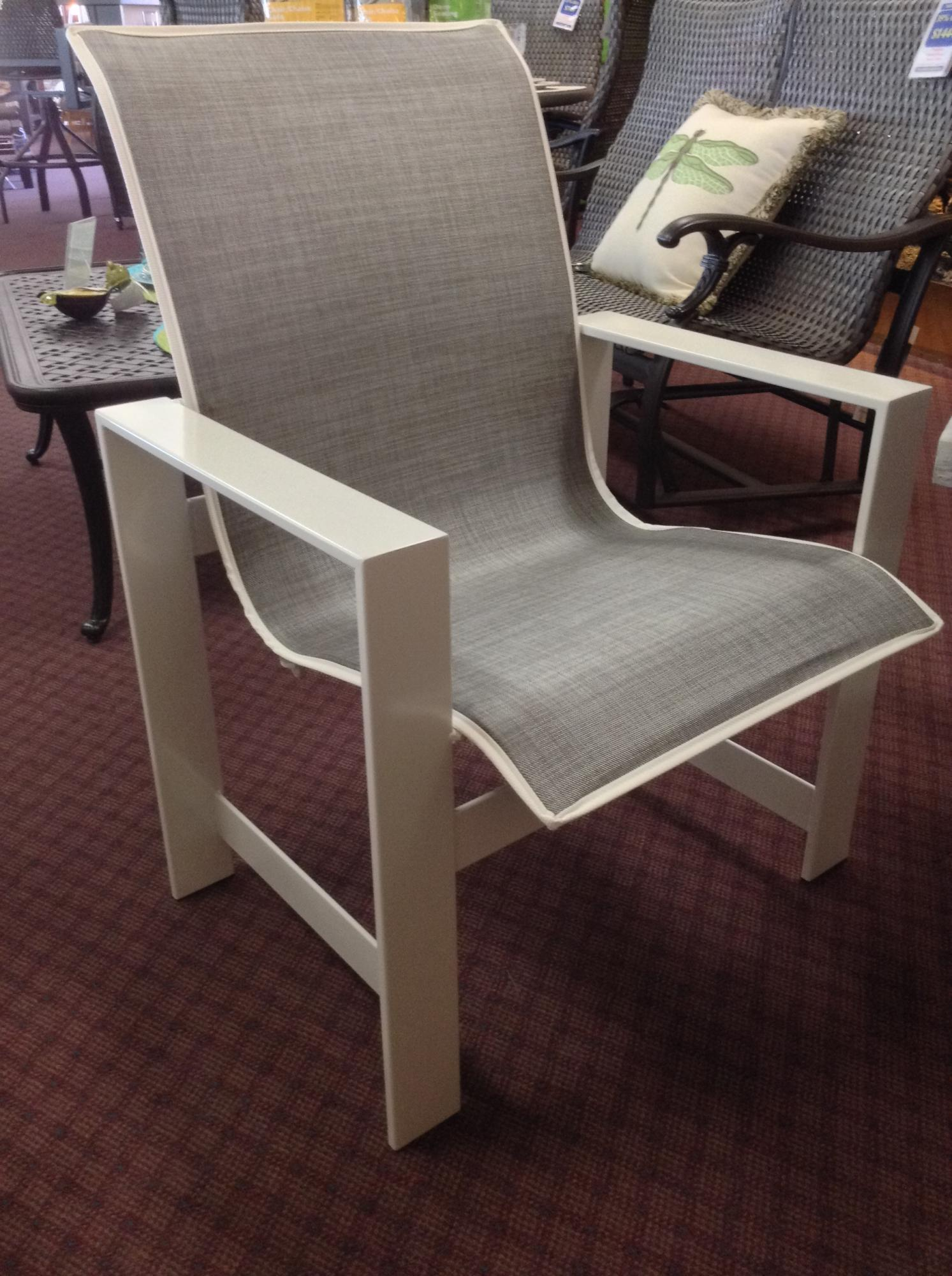 "Grace Low Back Sling Dining Chair W=26.75"" D=26"" H=35"" SH=14.5"" AH=23"""