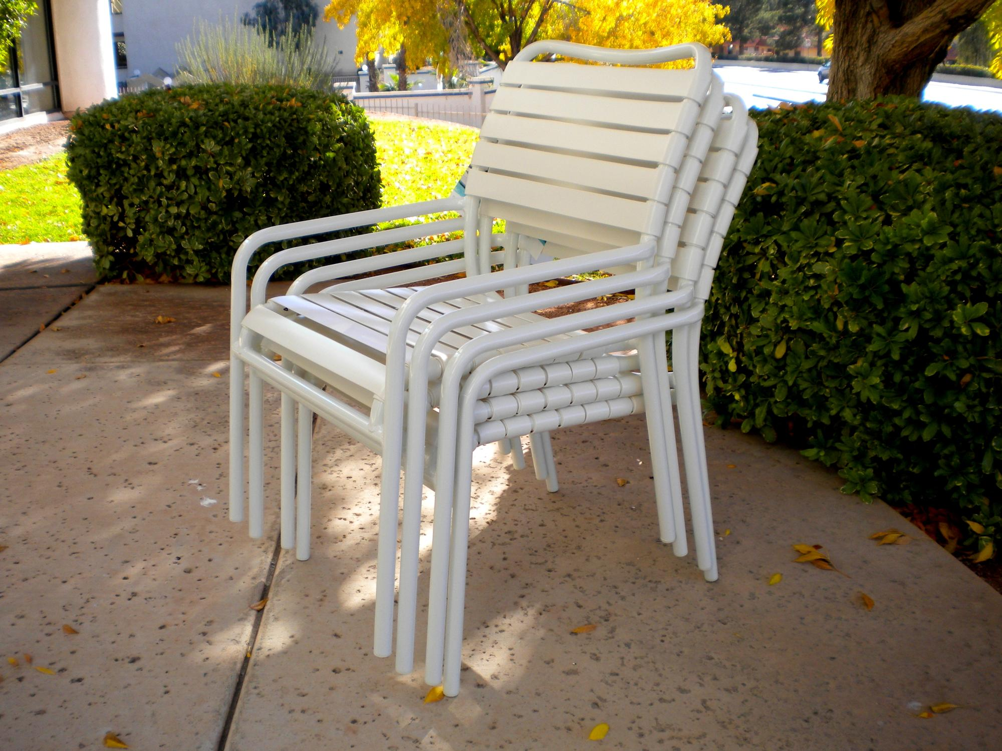 "Kahana Stackable Dining Chair W=23"" D=28"" H=33"" SH=16"" AH=21.5"""