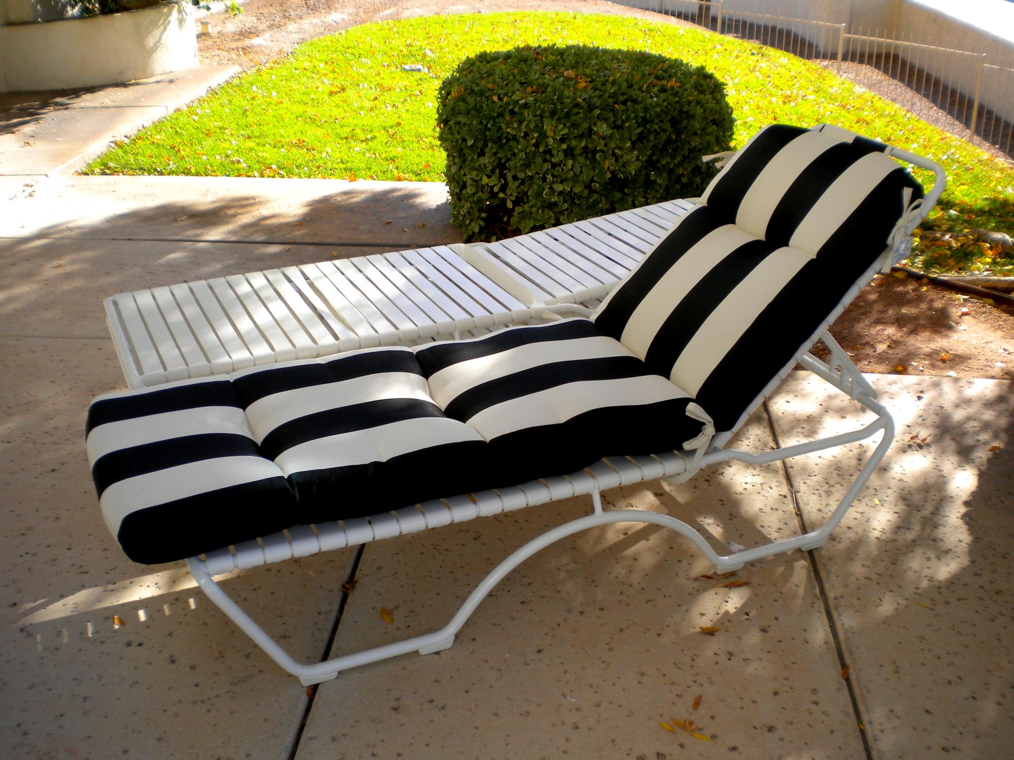 "Kahana Snow Stackable Chaise Lounge ~ Cushion Optional ~ W=27"" D=79"" H=39.5"" SH=13"""