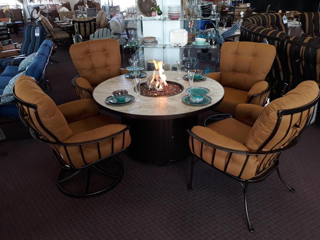"Capri 54"" Round Dining Fire Table"