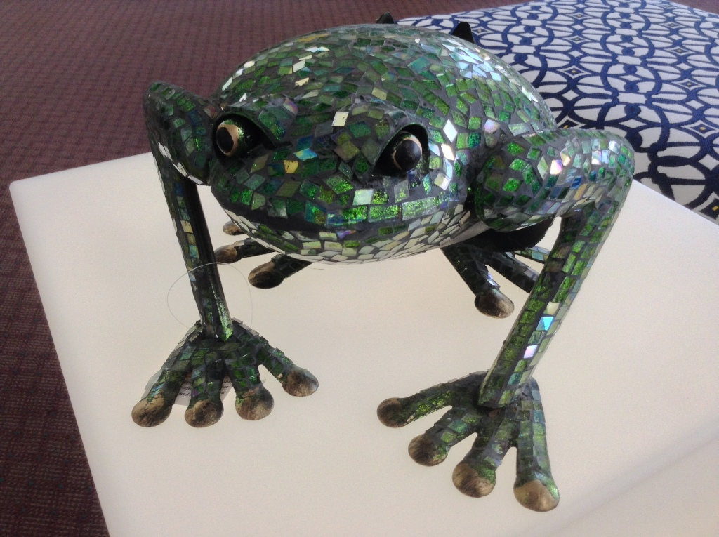 "Mosaic Small Frog 11"" W x 6.25"" H"
