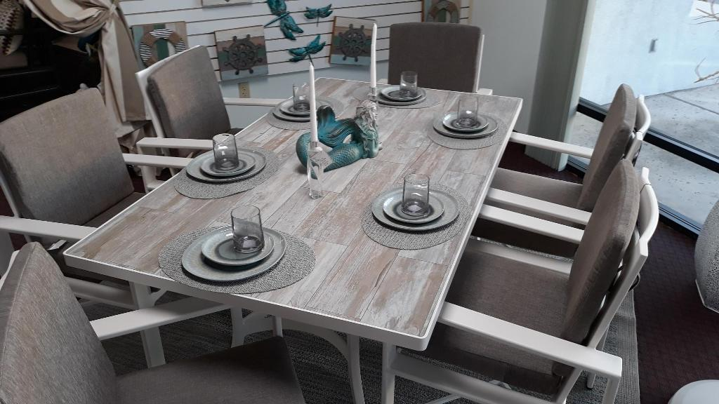 "Myrtle Beach Porcelain 42"" x 72"" Dining Table"