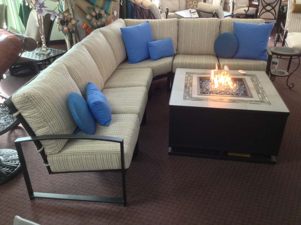 Pacifica Sectional with Zen Fire Table
