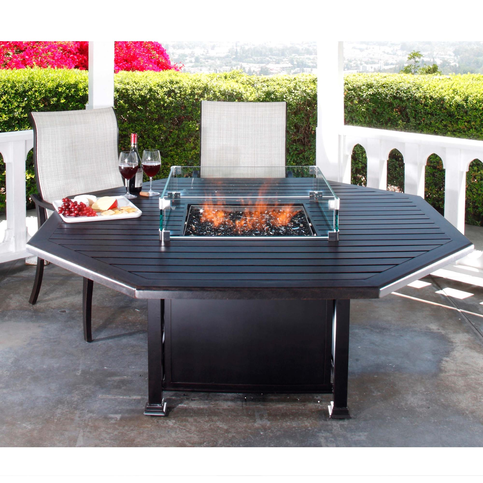 "Paso Robles  Octagon Dining Fire Table W=66.5"" L=66.5"" H=28.25"""