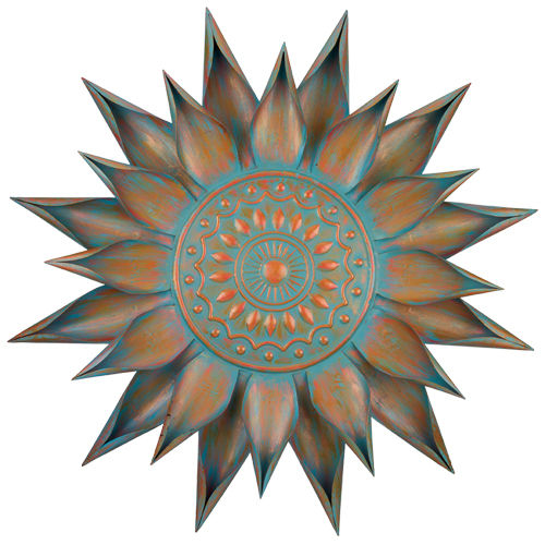 Patina Bloom Metal Wall Decor D = 34""