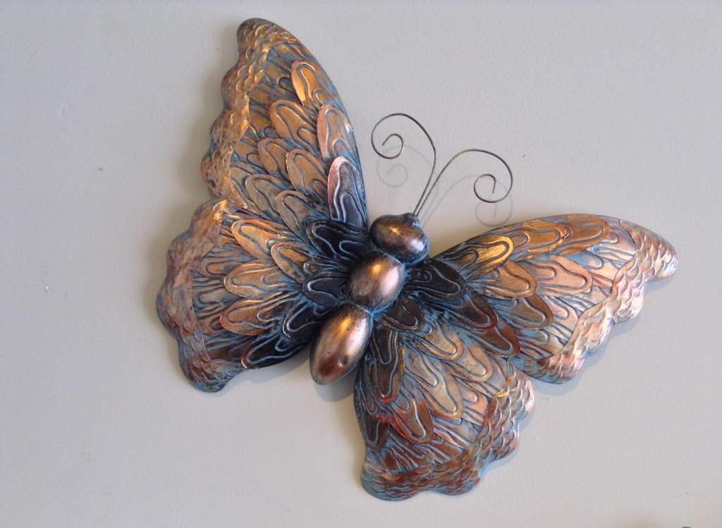 "Patina Butterfly W=19"" H=14"""
