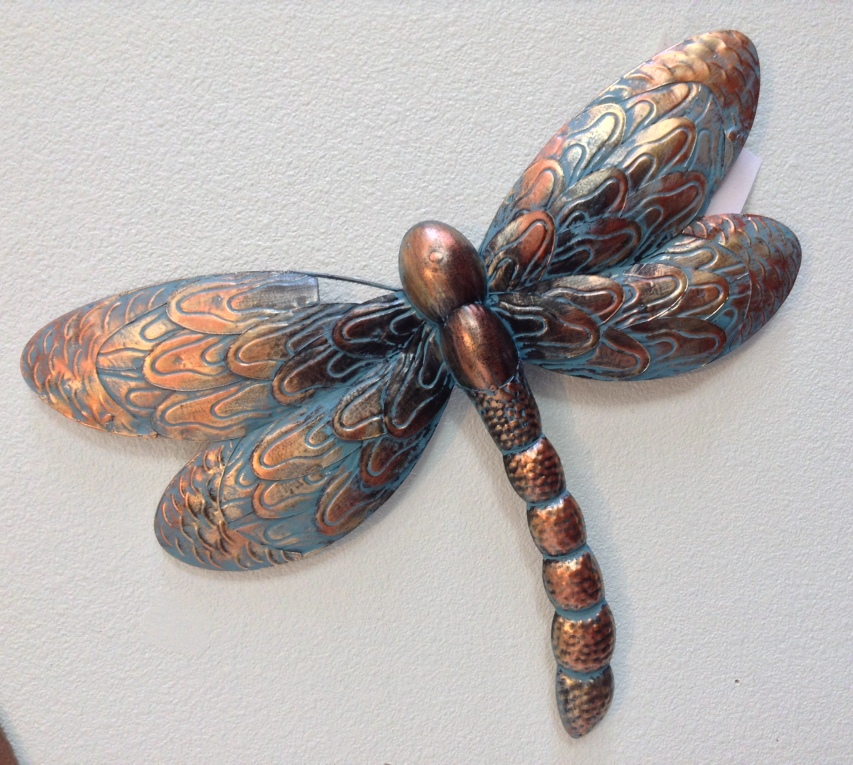 "Patina Dragonfly W=20"" H=14.5"""
