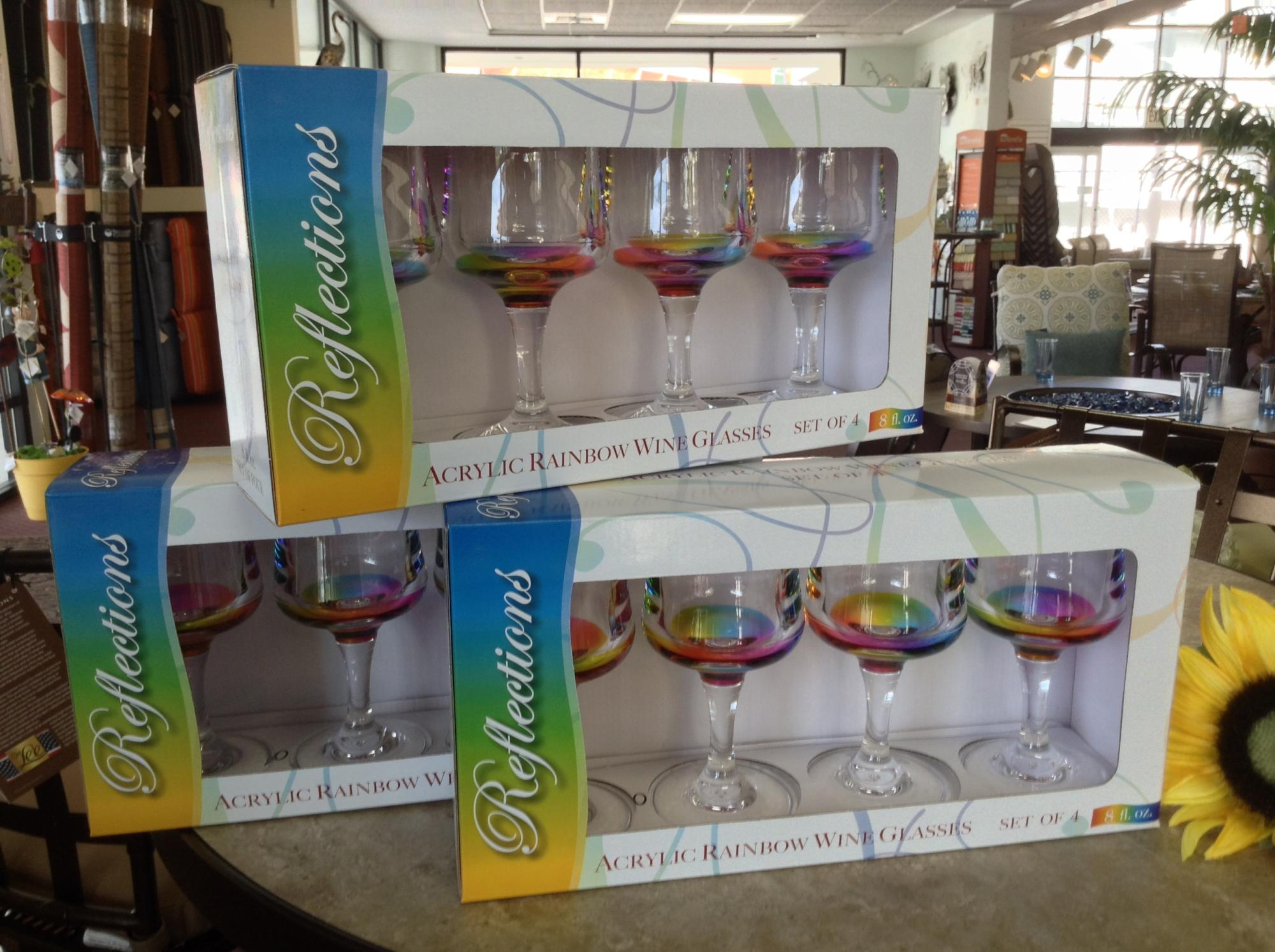 Rainbow Acrylic Wine Glass Set