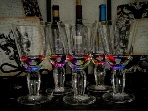 Rainbow Acrylic Wine Glasses
