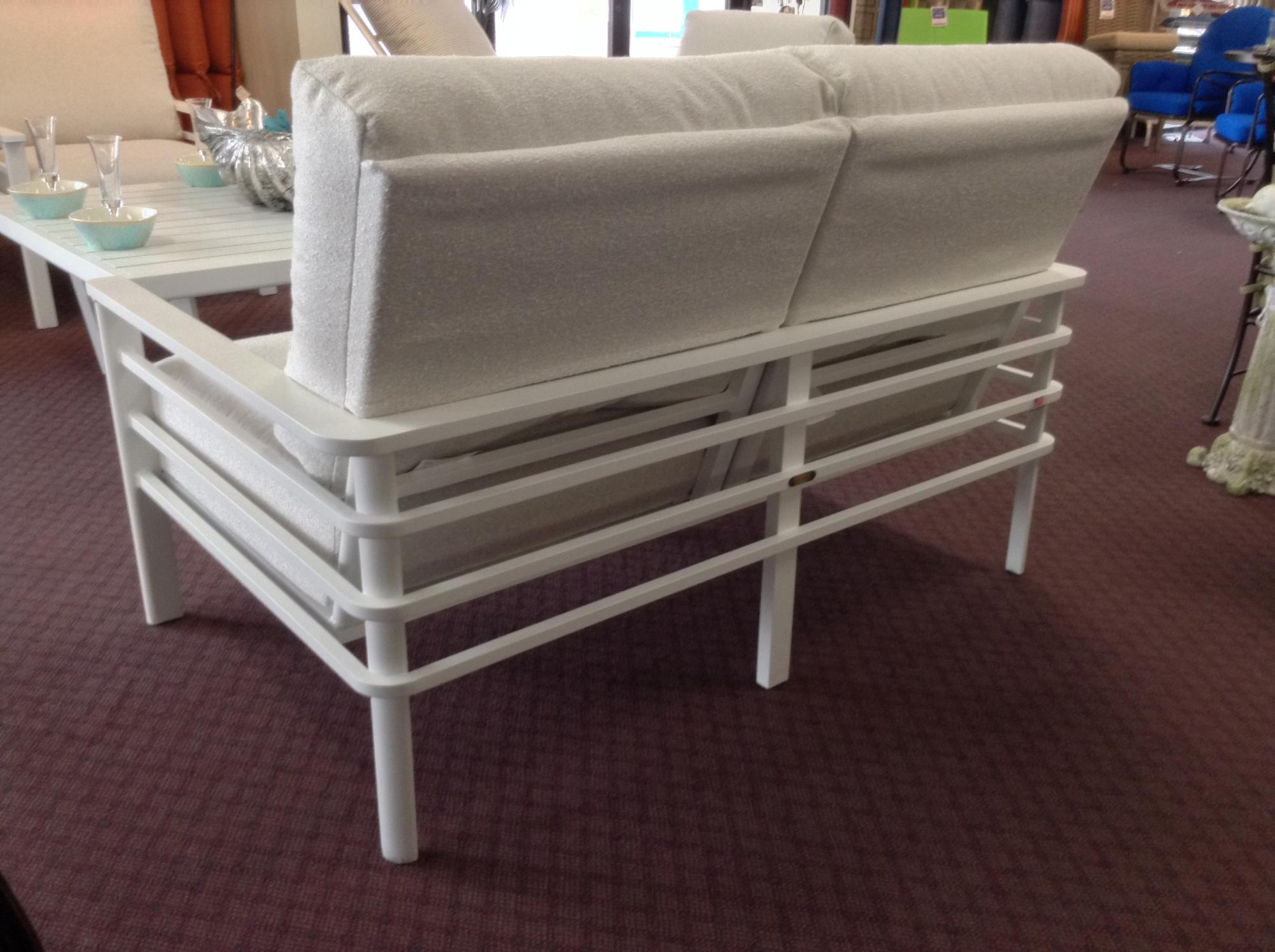 "Sarasota Love Seat ~ Back View ~ W=55"" D=33.75"" H=33"" SH=18.5"""