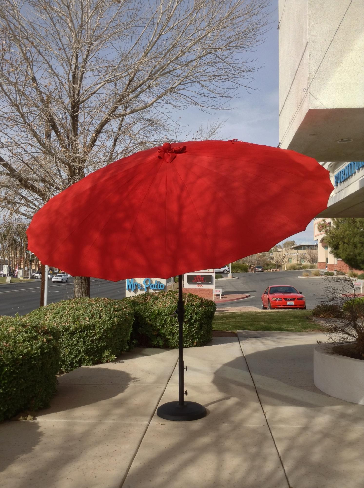 Shanghai 10 ft.  Collar Tilt Umbrella Cha Cha Pomegranate ~ Multiple Colors Available