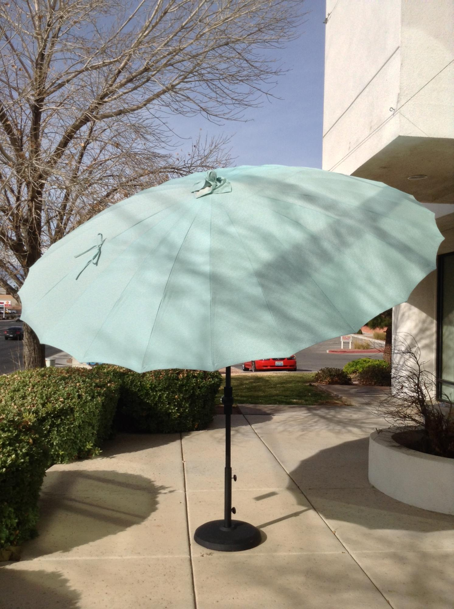 Shanghai 10 ft. Collar Tilt Umbrella Tango Glacier ~ Multiple Colors Available