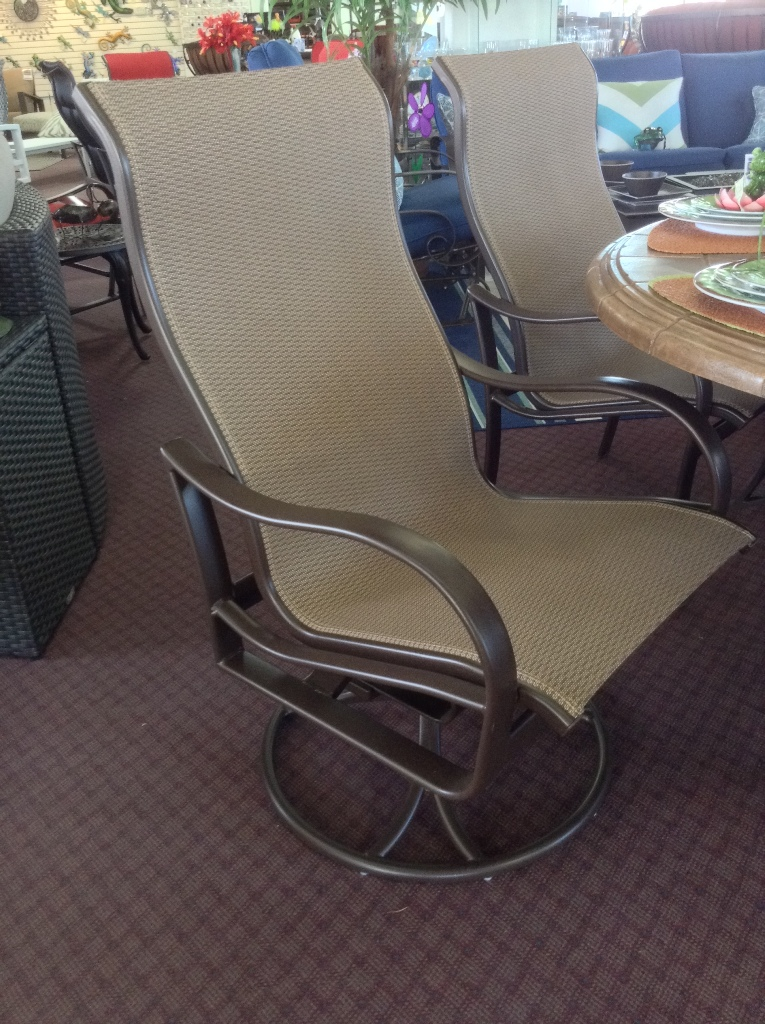 Shoreline High Back Swivel Rocker Dining Chair