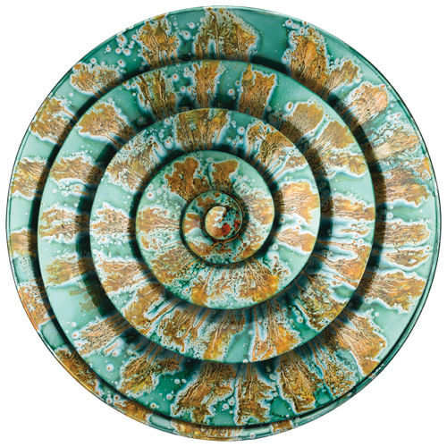 Spiral Metal Wall Decor Teal D = 22""