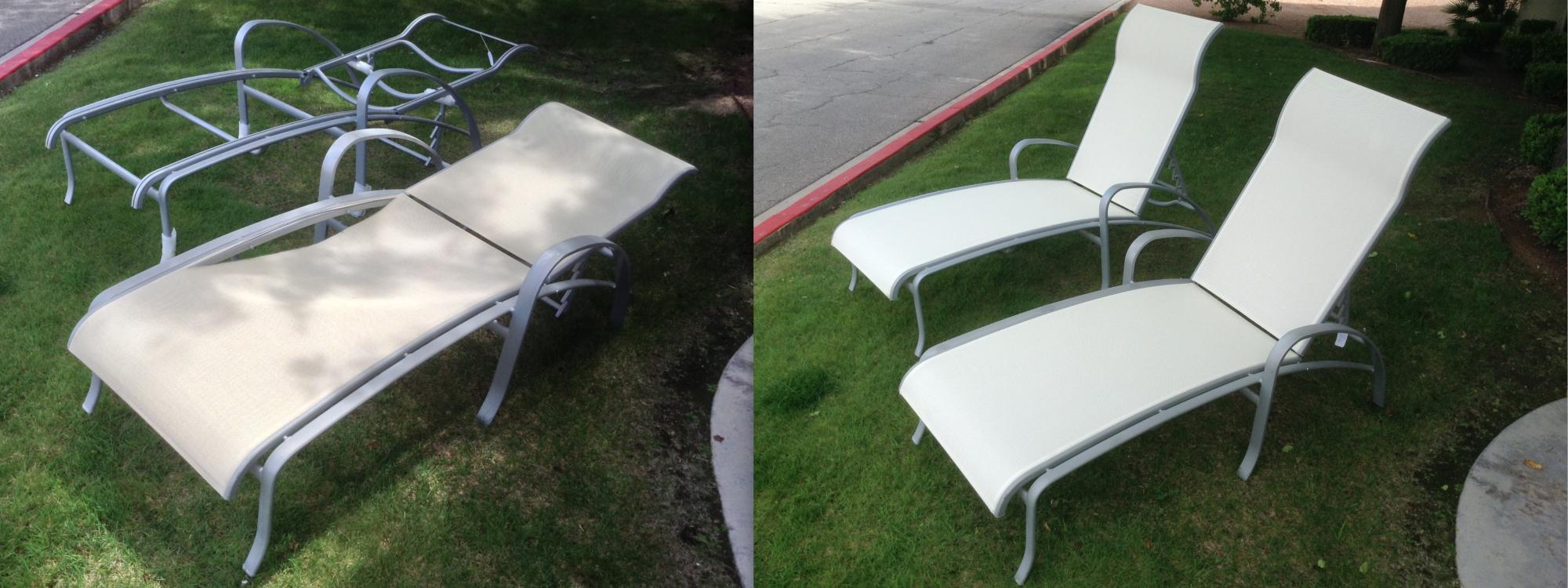 Tropitone Spinnaker Chaise Sling Installation ~ Before & After