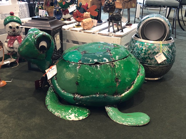 Terrence The Turtle Cooler ~ Made From Recycled Oil Drums