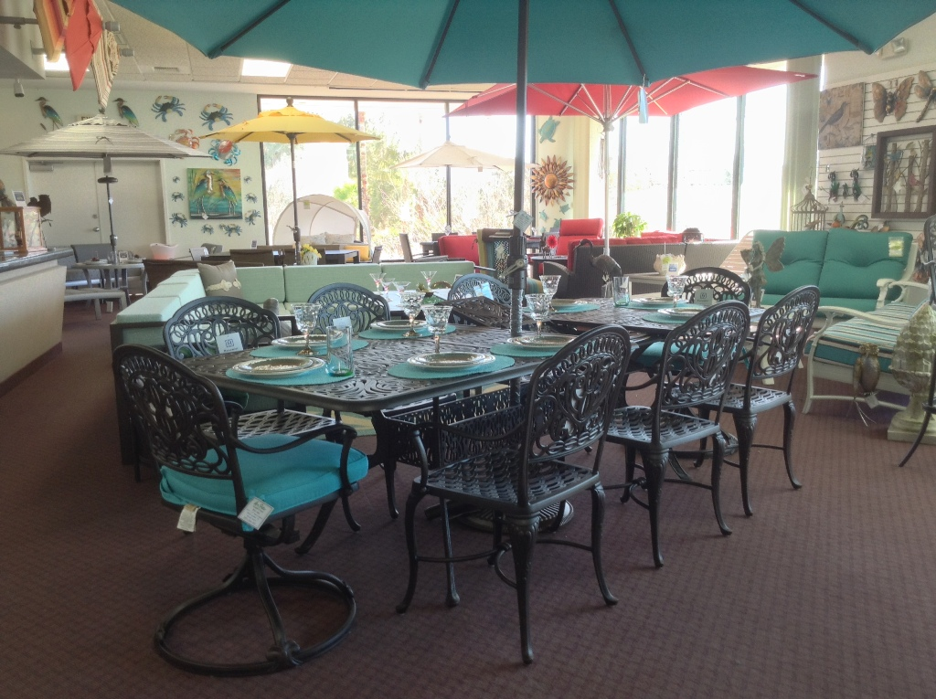 Tuscany Expansion Table Shown with Eight Chairs ~ Seats  Total of Ten