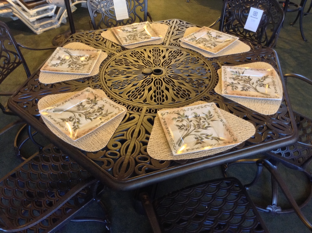 Tuscany Hexagon Table with built-in Lazy Susan