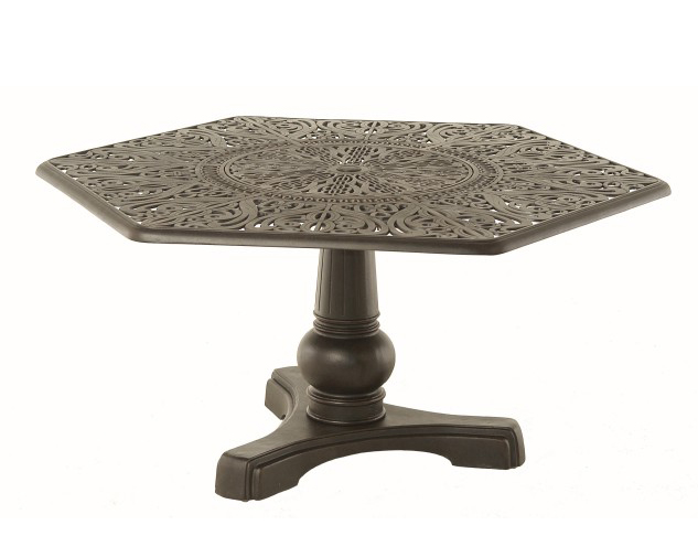 Tuscany Hexagonal Inlaid Lazy Susan Dining Table