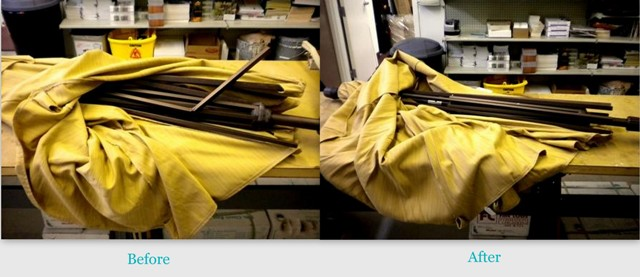 Umbrella Repair Before & After