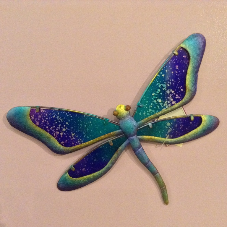 "Watercolor Dragonfly W=12"" H=8"""