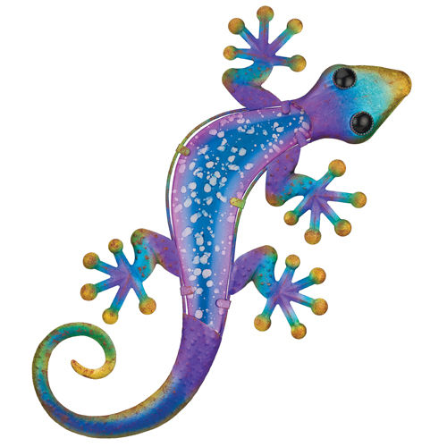 "Watercolor Gecko Wall Decor L = 24"" W = 12"""