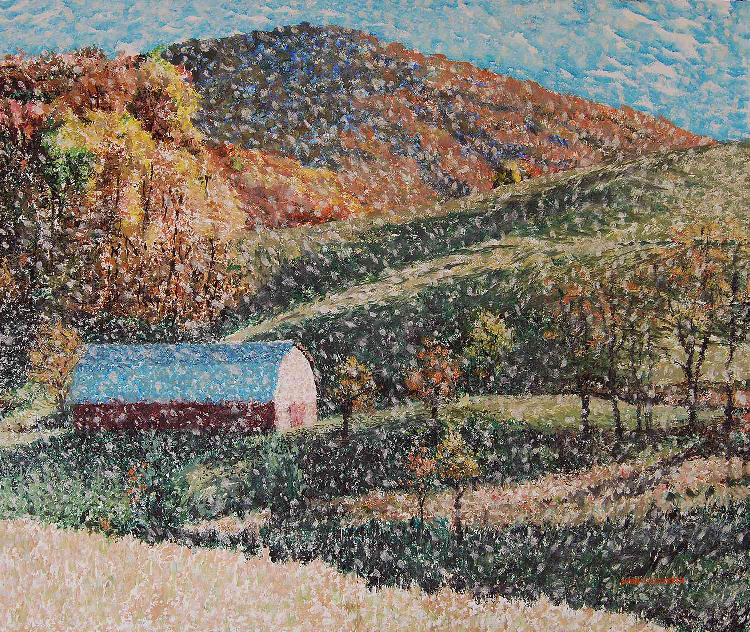 """Red Barn at Blowing Rock"" (30 x 36) oil on canvas $1200"