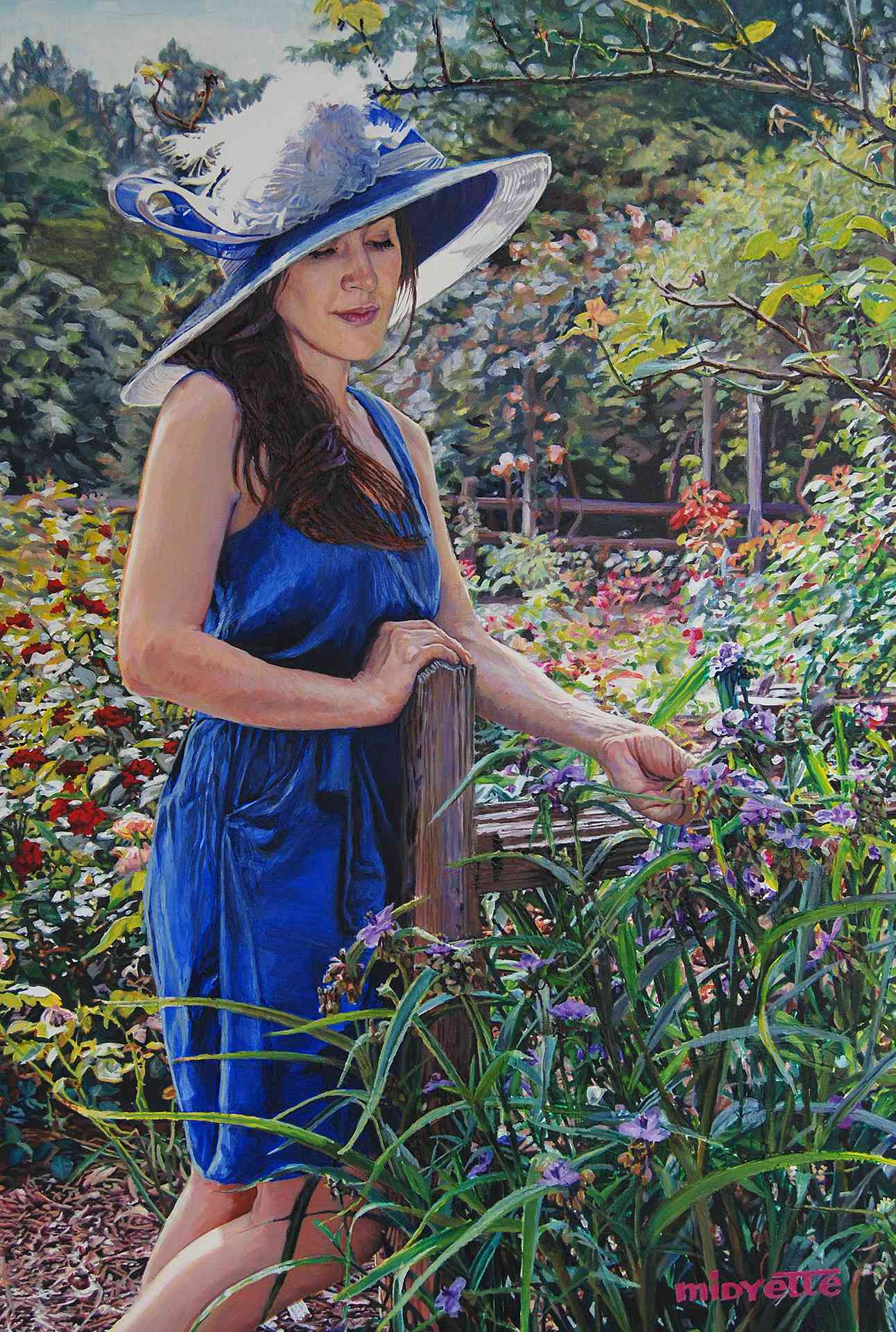 """Blue Hat Girl"" (24 x 36) oil on gallerywrap canvas $1200"