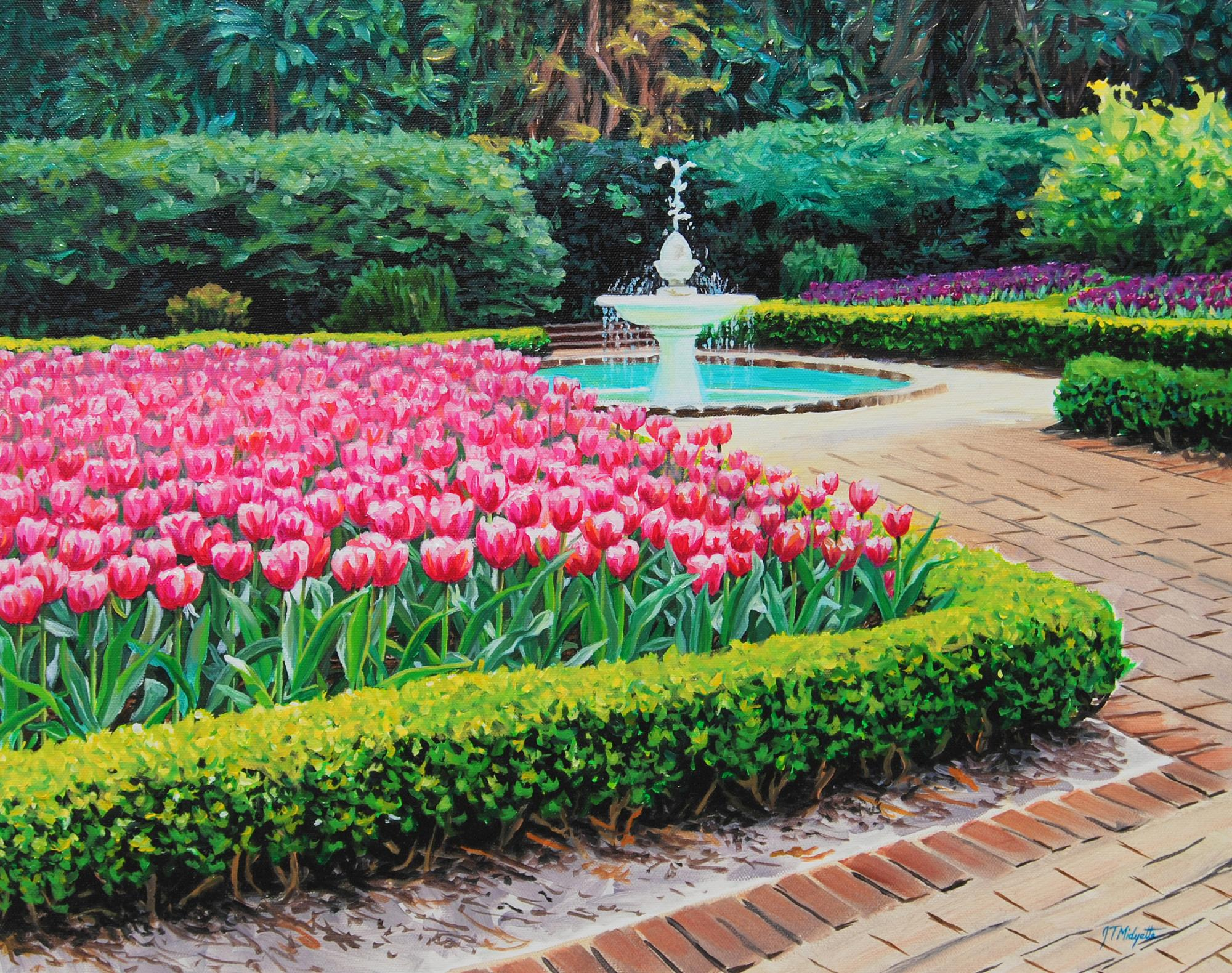 """Elizabethan Gardens"" (16 x 20) $550 oil on canvas"