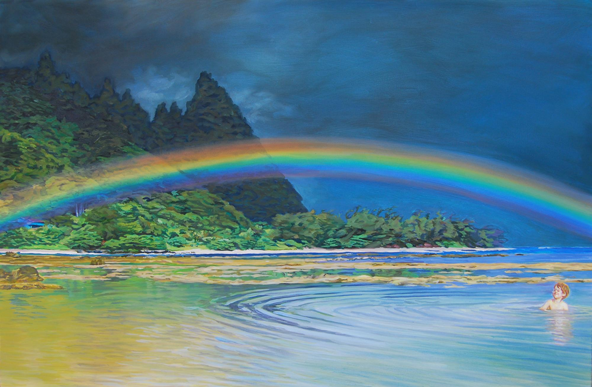 """Hawaiian Rainbow"" (24 x 36) $960 oil on gallerywrap canvas"