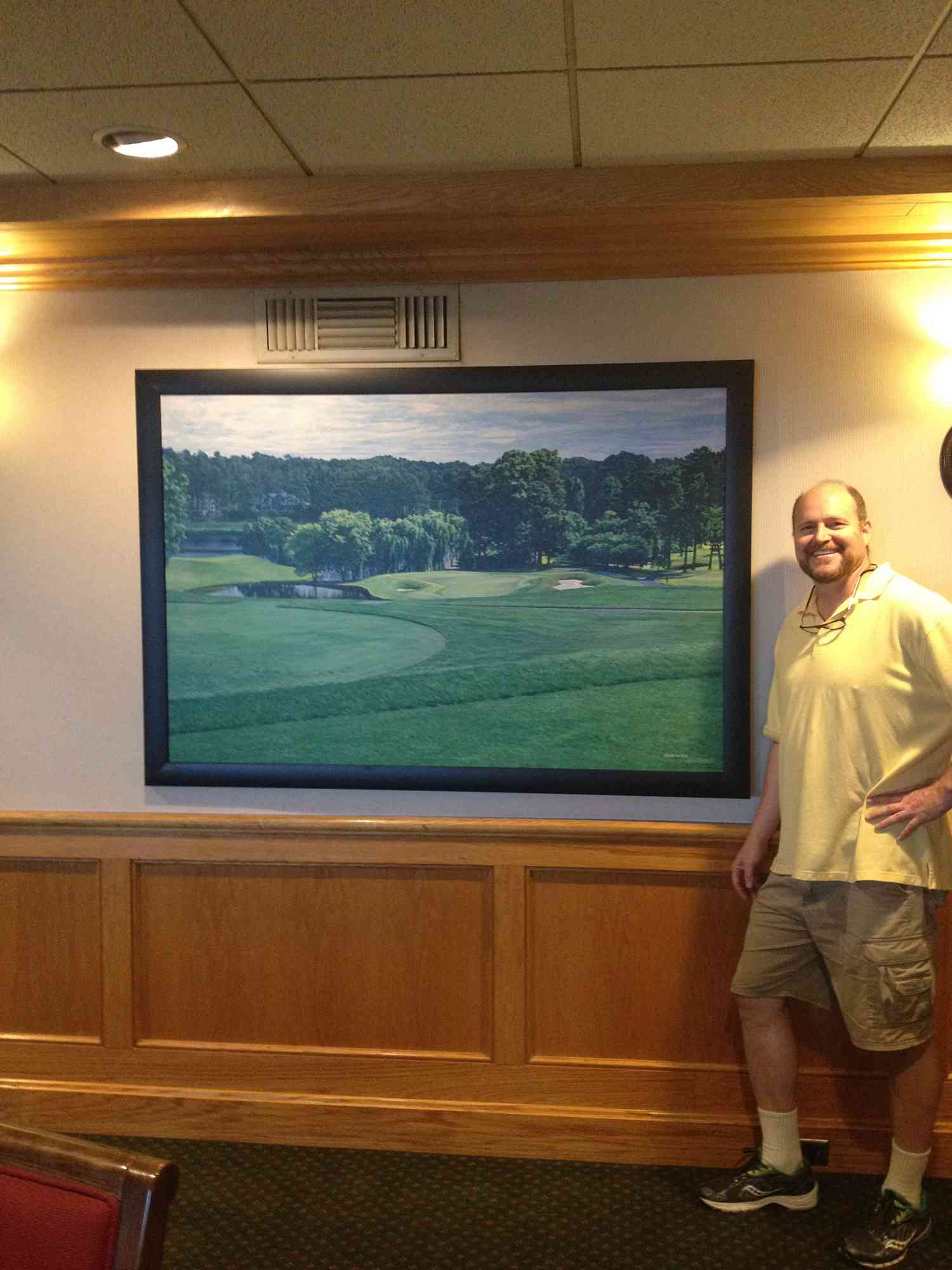 Large giclee of my painting in Men's Lounge