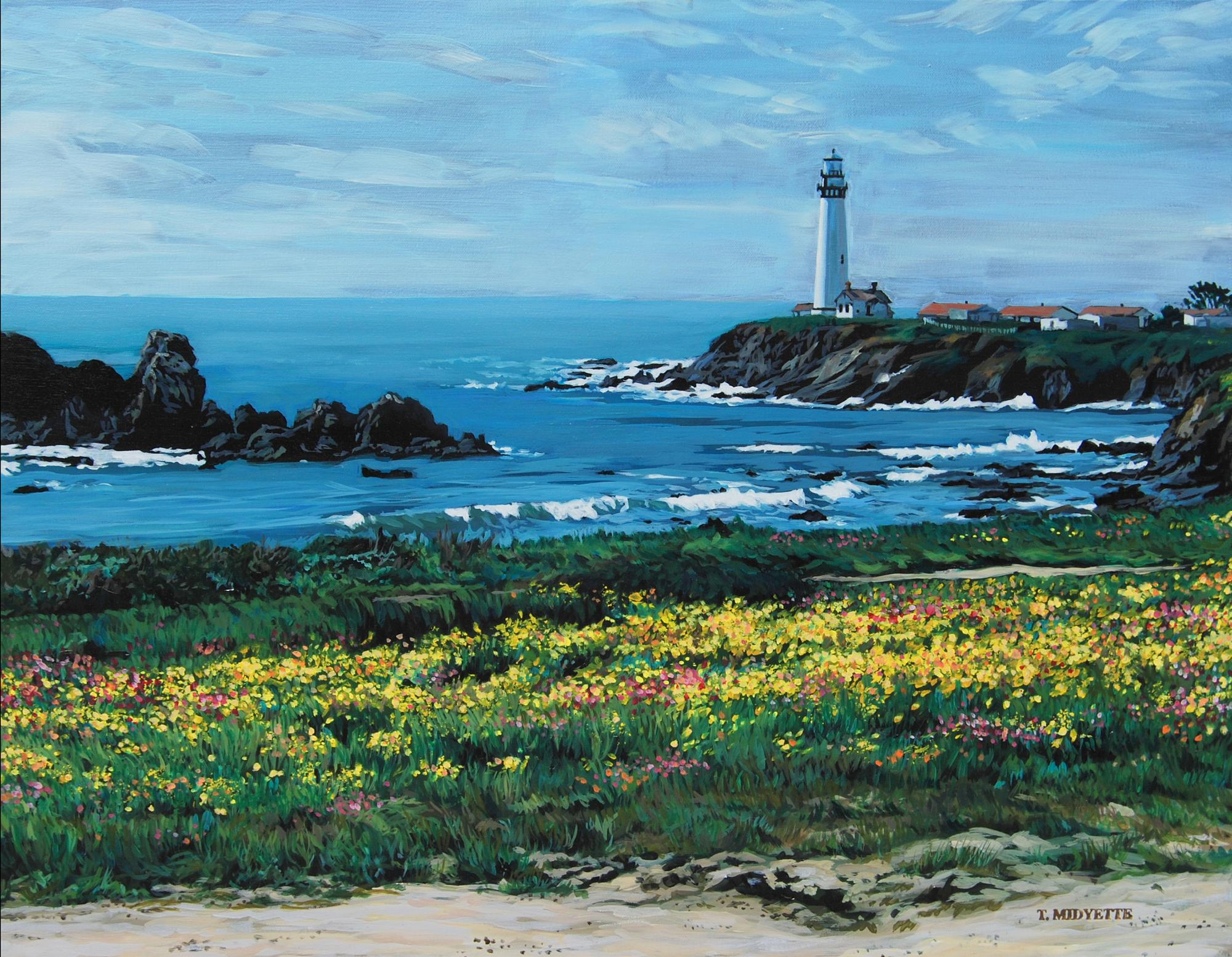 """San Fran Lighthouse"" (22 x 28) oil on canvas"