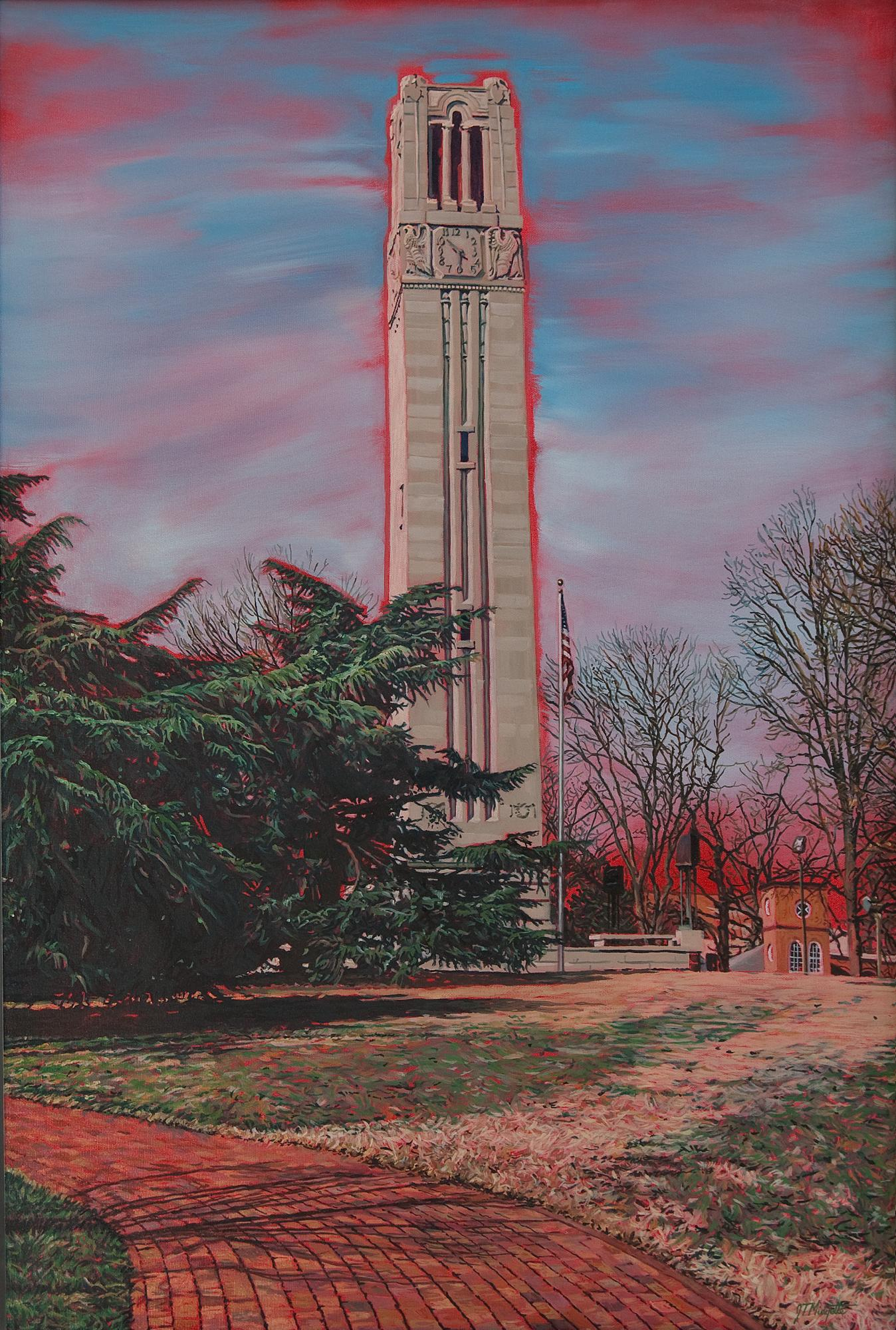 """Bell Tower"" (24 x 36) oil on canvas"