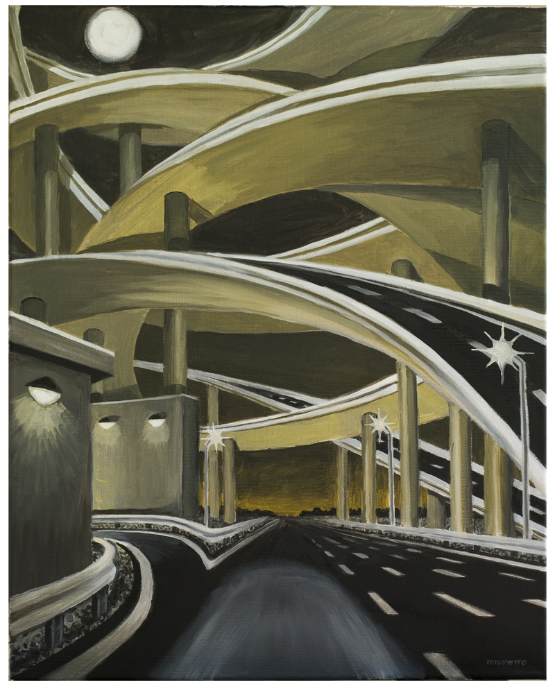 """Overpassed"" (16 x 20)  oil on canvas"
