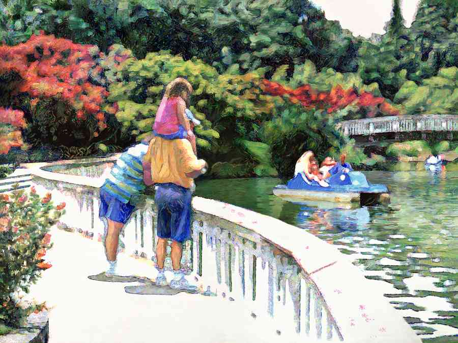 """Pullen Park"" (30 x 40) oil on canvas"