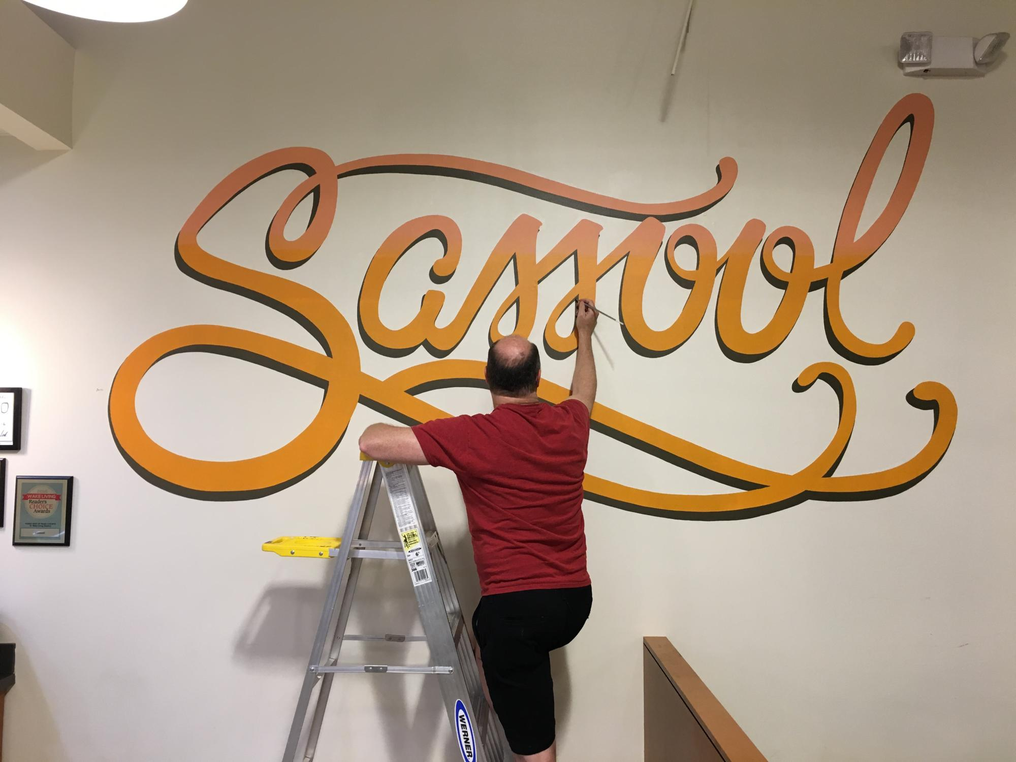 signage for Sassool restaurant Raleigh