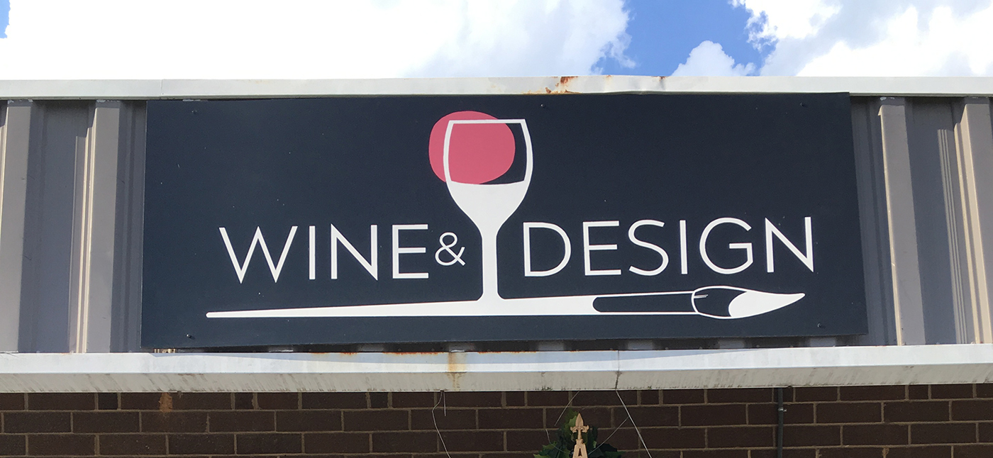 painted exterior sign for business