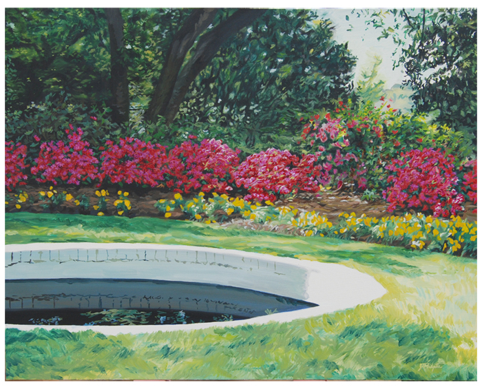 """WRAL Gardens"" (20 x 24) oil on canvas"