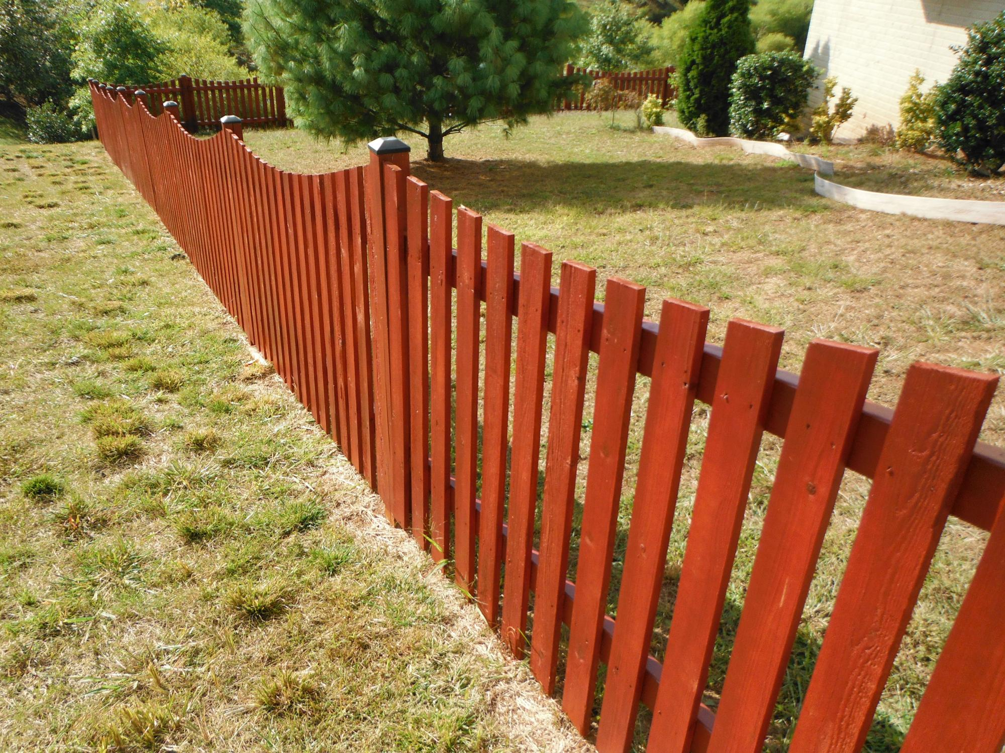 Fence sealed with Red Mahogany