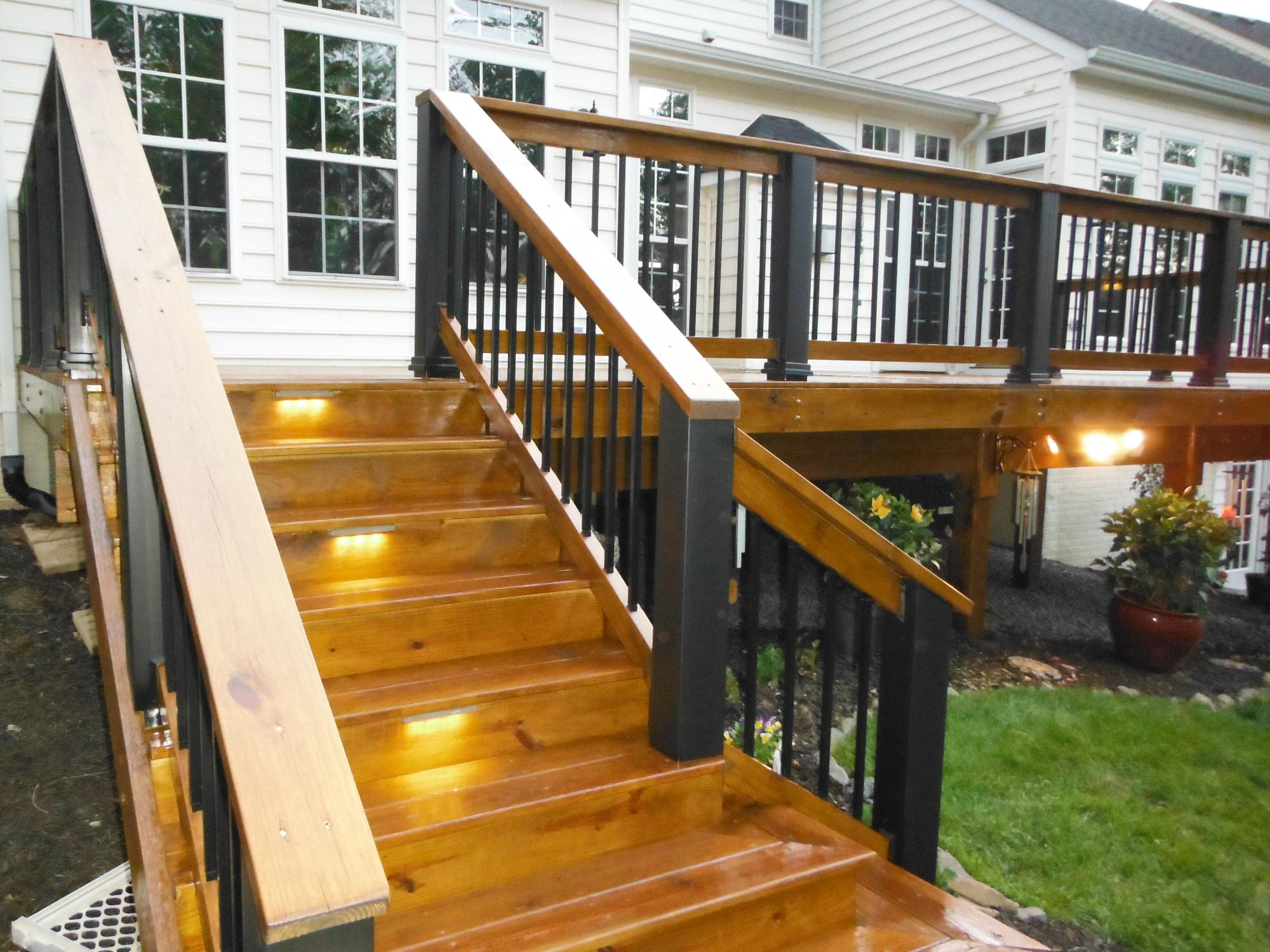 Deck stairs sealed