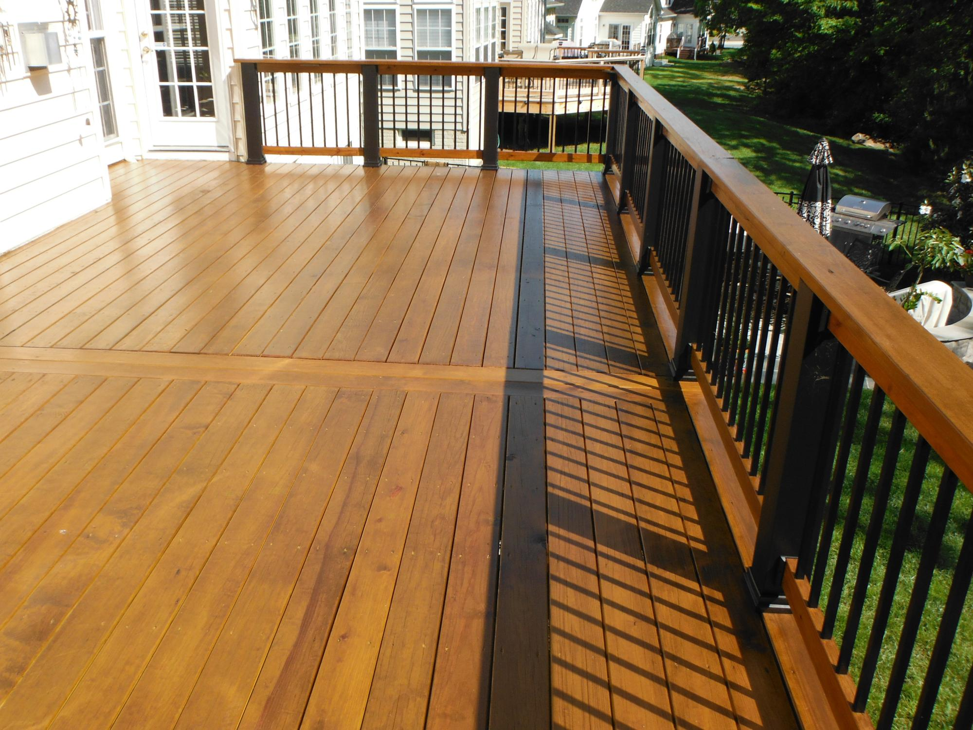 Deck sealed with SRD Butternut
