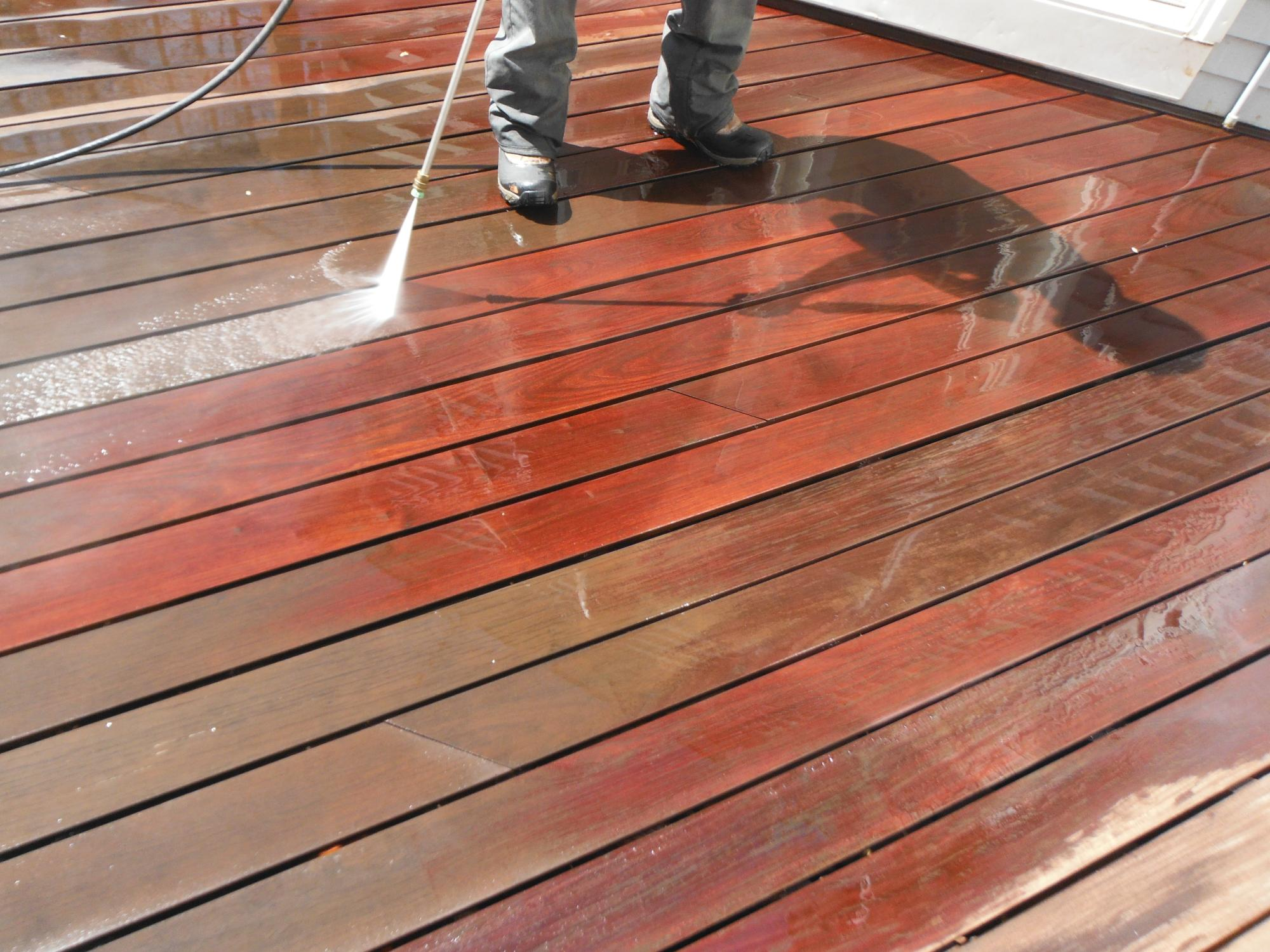 Cleaning IPE deck