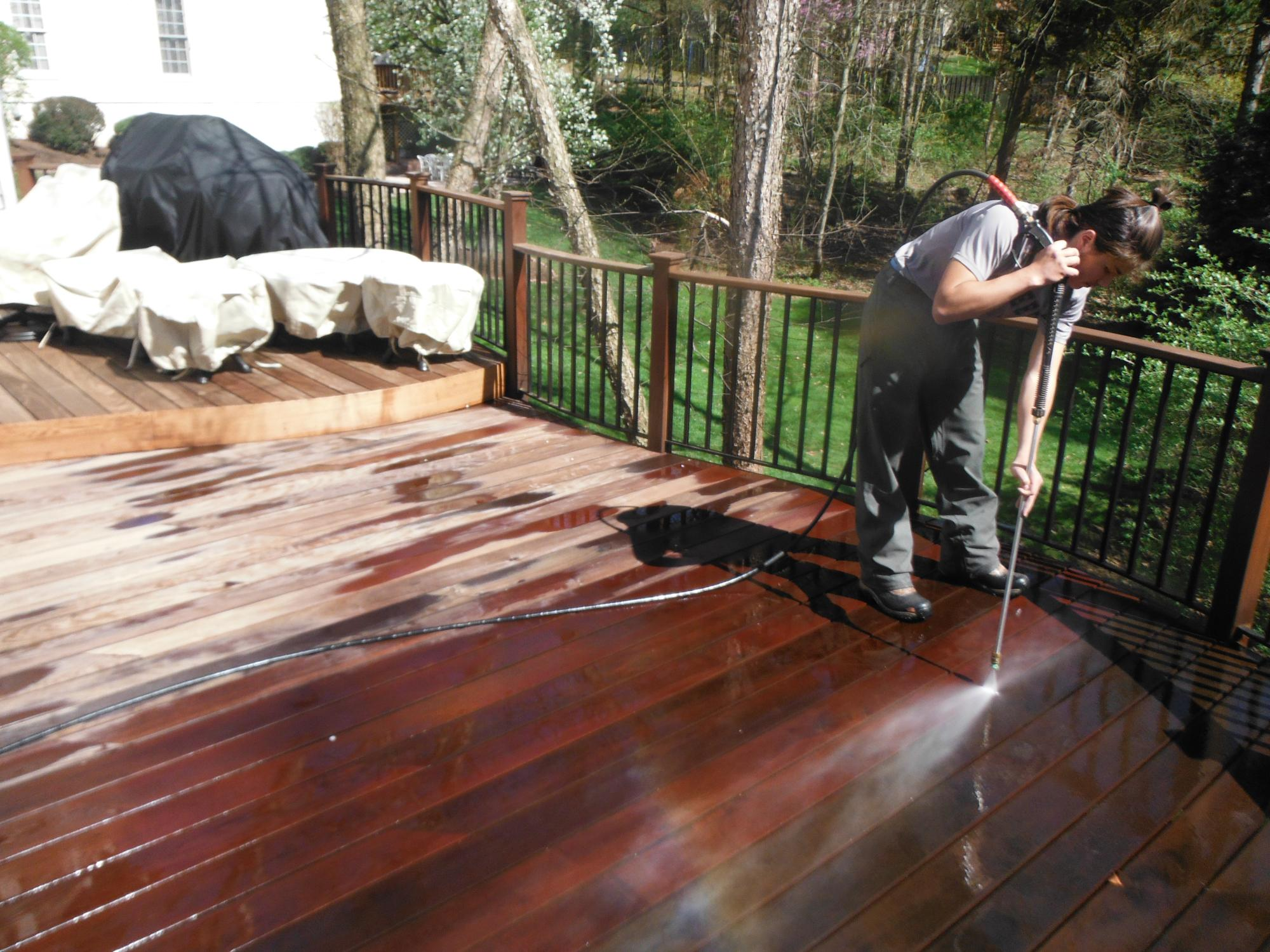 IPE deck getting clean