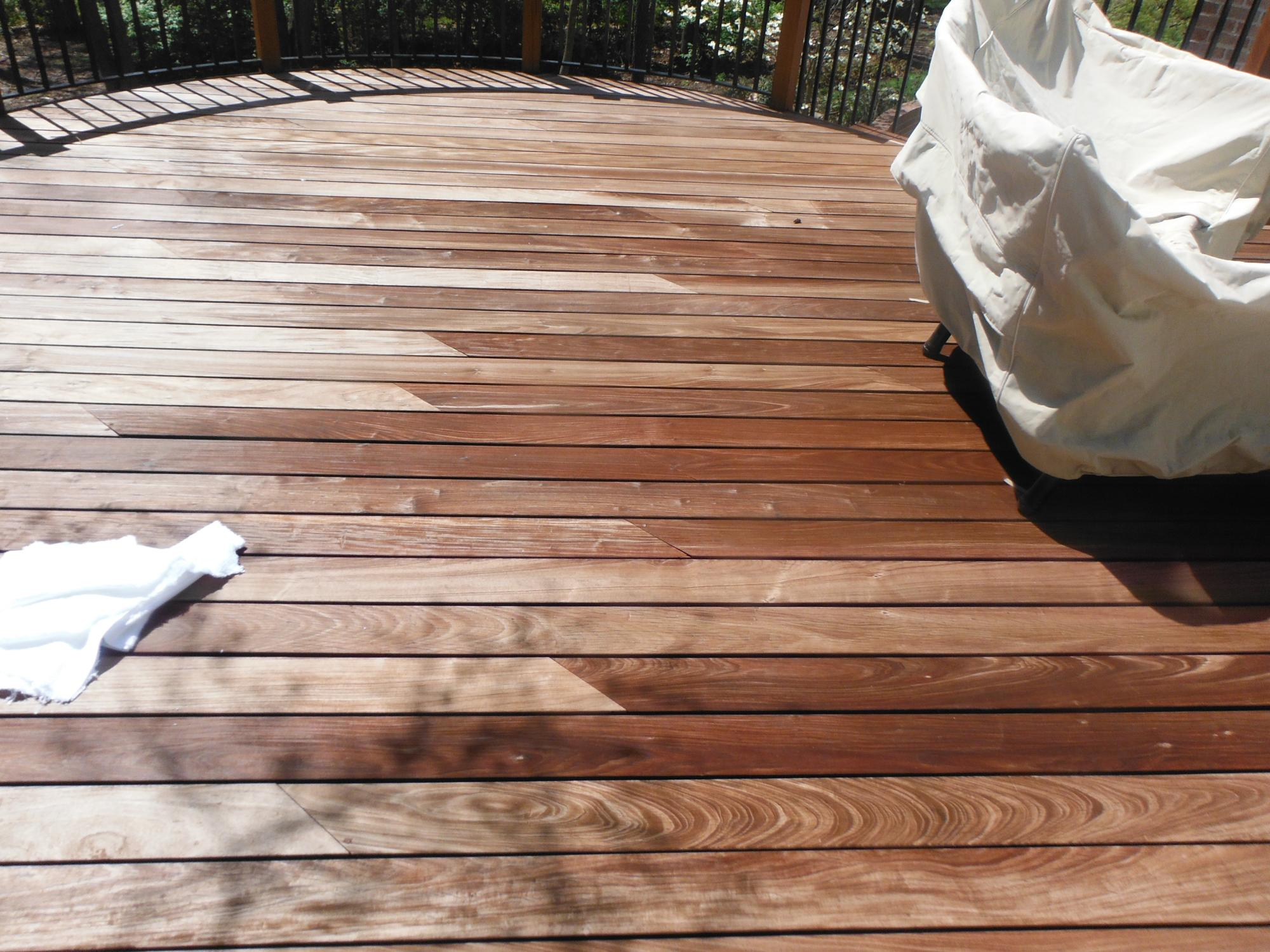 Cleaned IPE deck