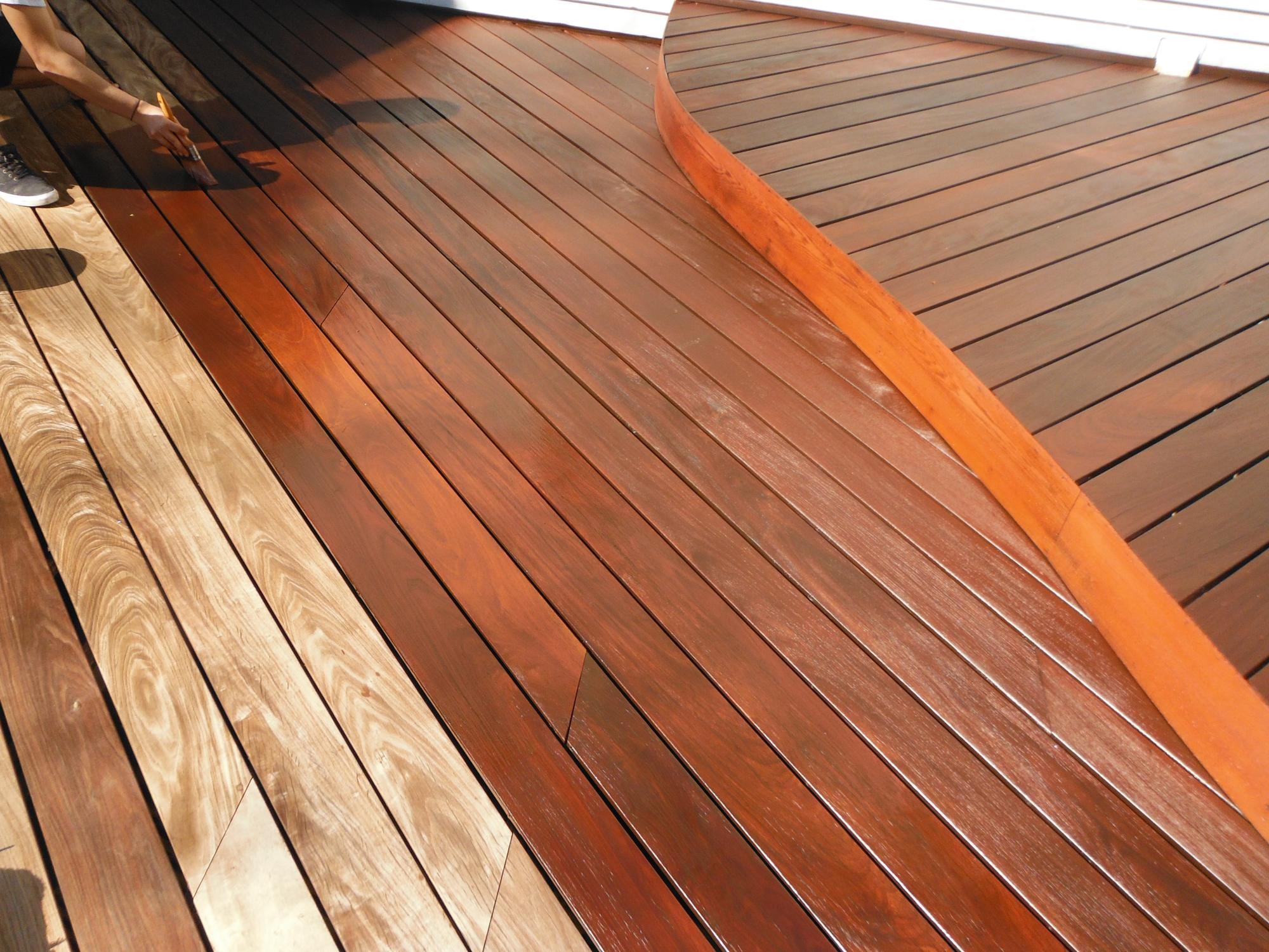 IPE deck sealing