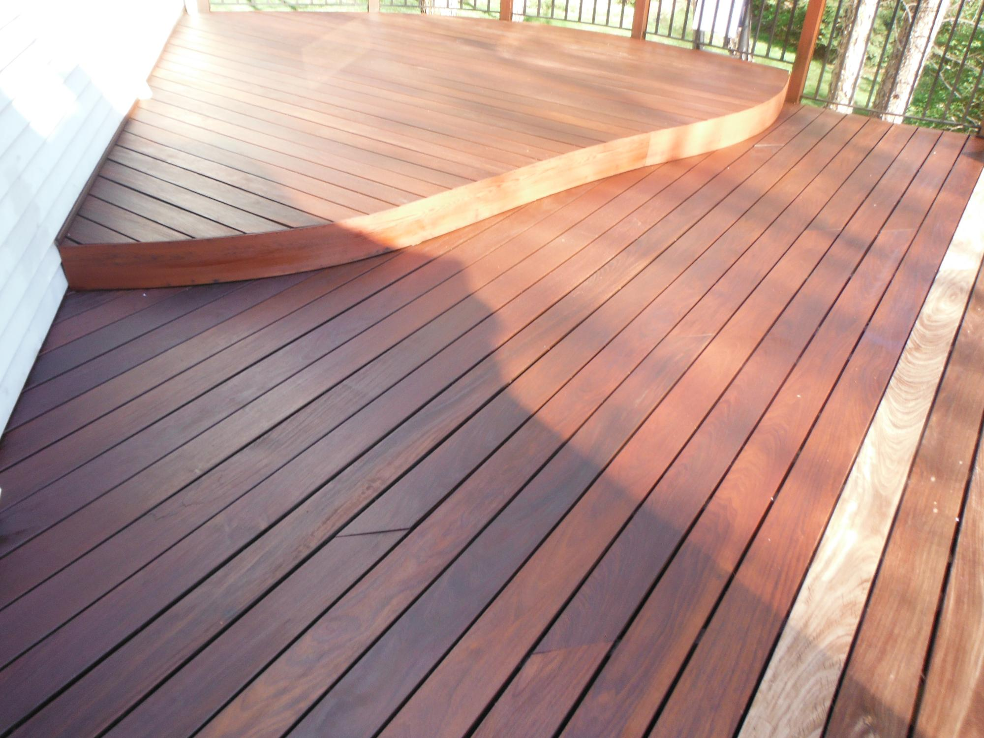 IPE deck with IPE oil