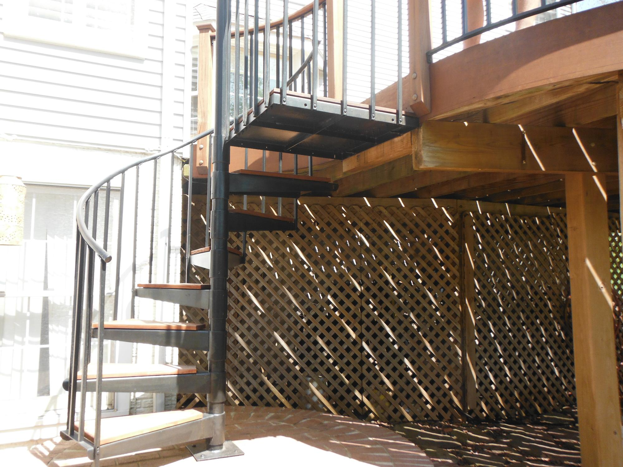 IPE deck staircase