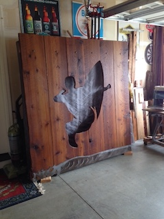 SURFER 6'X6' CEDAR/STEEL $1200