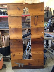 ASTOR COLUMN 6'X3' CEDAR AND STEEL $600